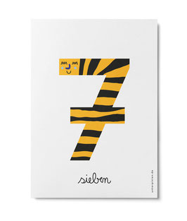 "Zahlenpostkarte ""7"" (Unter Pinien)"