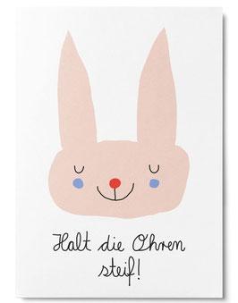Postkarte HALT DIE OHREN STEIF (Unter Pinien)