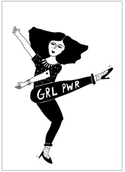 "Postkarte ""GRLPWR"" (Helen B)"