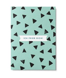"Postkarte ""Ich feier dich"" GRAFIK MINT (Unter Pinien)"