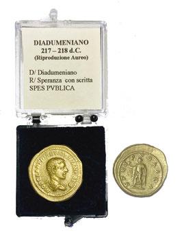 Riproduzione Aureo Diadumeniano 217 - 218 d.C.