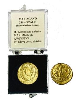 Riproduzione Aureo Maximiano 286 - 305 d.C.
