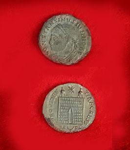 Nummus (follis)  autentico  di Costantino il Grande 306 - 337 d.C.