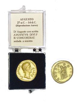 Riproduzione Aureo Augusto 27 a.C. - 14 d.C.