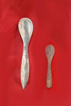 Mestolo e cucchiaino in legno di olivo