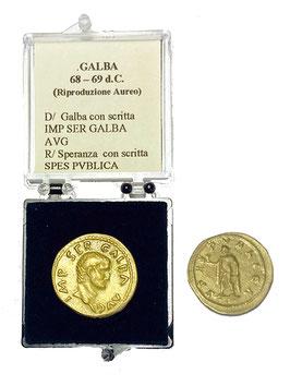 Riproduzione Aureo Galba 68 - 69 d.C-