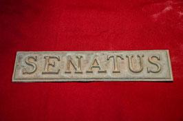 """Scritta """"SENATUS"""""""