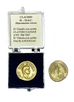 Riproduzione Aureo Claudio  41 -54 d.C.