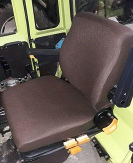 1 Sitzbezug + 1 Lehnenbezug Stoff/ Kunstleder braun, für MB-TRAC 700-1000
