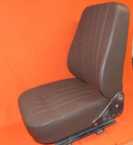 1 Sitzbezg U1000+, Stoff braun, seitlich Kunstleder braun,