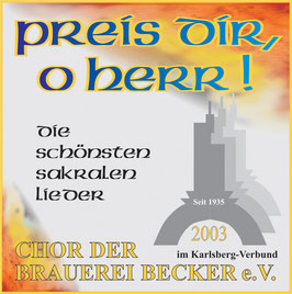 """CD """"Preis dir, o Herr"""""""