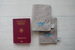 Reisepasshülle hellgrau