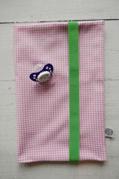 Wickeltasche Vichykaro rosa