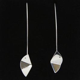 Boucles d'oreilles Origami et diamants noirs