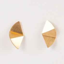 Boucles Origami vermeil