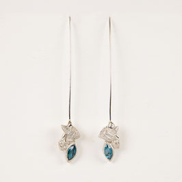 Boucles d'oreilles Laëtitia London blue topaze