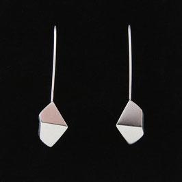 """Boucles d'oreilles Origami """"2 pans"""" longues"""