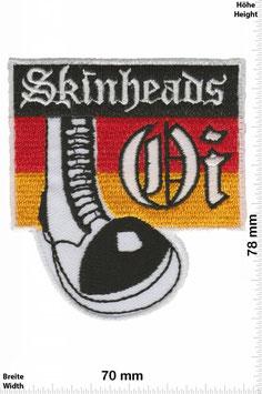 Skinheads Oi! (Schwarz- Rot- Gold) Aufnäher