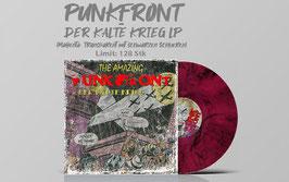 Punkfront- Der Kalte Krieg LP (Magenta- transparent mit schwarzen Schlieren)