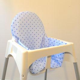 Sitzkissen Sterne Hellblau für IKEA Antilop Hochstuhl u.v.m.