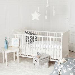 Puckdaddy Babybett 140x70cm, auch als Kinderbett nutzbar