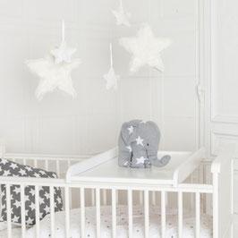 Wickelbrett für Babybett 85x50cm, auch für alle IKEA Babybetten nutzbar!