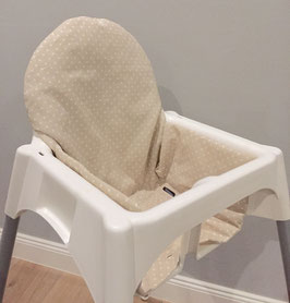 Sitzeinlage Punkte beige für IKEA Antilop Hochstuhl u.v.m.