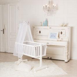 Puckdaddy Baby-Wiege 90x40cm, auch als Kinderbett nutzbar