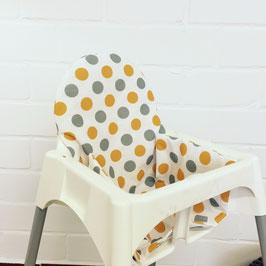 Sitzkissen Punkte Orange für IKEA Antilop Hochstuhl u.v.m.