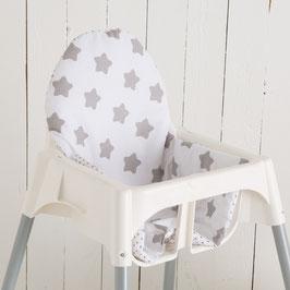 Sitzkissen Sterne weiß für IKEA Antilop Hochstuhl u.v.m.