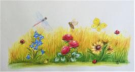 1 Bechertasse #Blumenwiese oder #Feldblumen