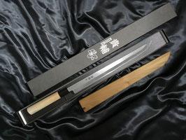 貴輔  刀型  刺身包丁  尺一寸  水牛角口輪朴柄