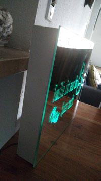Beleuchteter Spiegel  optional mit Farbwechsler