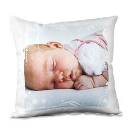 Kissen mit oder ohne Füllung weiß satiniert aus 100% Polyester 35 cm X 35 cm