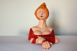 Damen-Büste rot-blond
