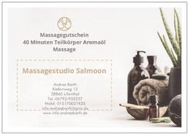 60 Minuten Ganzkörper Aromaöl Massage
