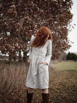 Women Linen Wrap Dress