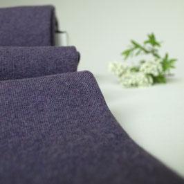 Feinstrick Bündchen Violett Meliert 50 cm