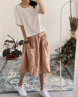Women's Linen Skirt with Pockets
