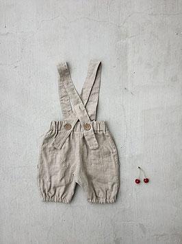 Linen Bubble Shorts with Braces