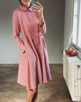 Women's Linen Dress WENDY long Sleeve