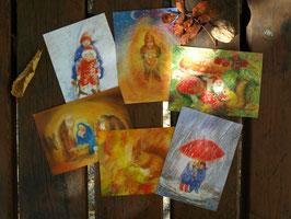 MARJAN VAN ZEYL Jahreszeiten- Postkarten| Zweite Jahreshälfte