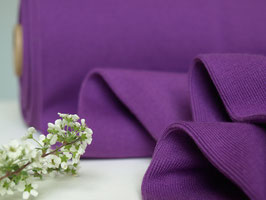Feinstrick-Bündchen Violett 50 cm