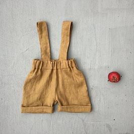 Kids Linen Shorts with Braces