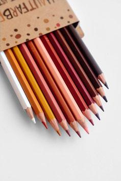 12 Hautfarben Buntstifte- So bunt ist unsere Welt