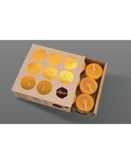 DIPAM Bienenwachs Teelichter ohne Aluminium-hülle 18 Stück