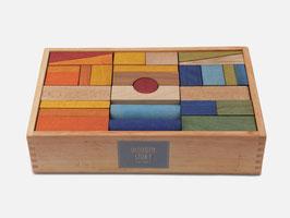 WOODEN STORY: Rainbow Bauklötzen XL| 63 Stück| im edlen Holzbox