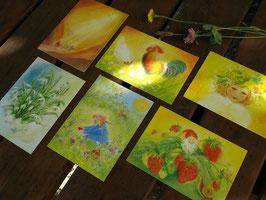 MARJAN VAN ZEYL Jahreszeiten- Postkarten| Erste Jahreshälfte