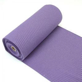 Ringelbündchen Flieder/Violett 50 cm