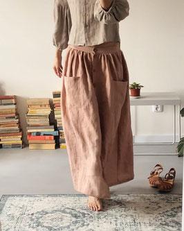 Women's Linen Skirt with Buttons- altered Length